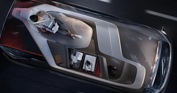 vehículos-autónomos-volvo-woman-sleeping
