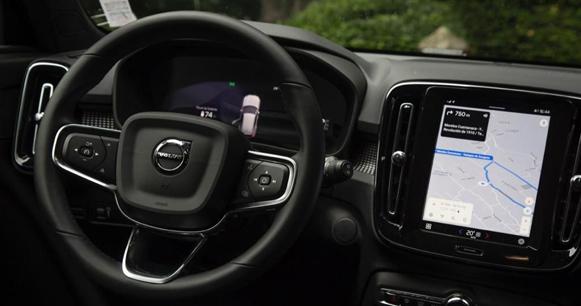 Volvo XC40 recharge cabina